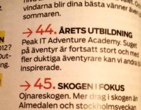 Peak Adventure Academy Årets Utbildning