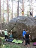 Bouldering är bra för att öva tekniken och bli stark i armarna