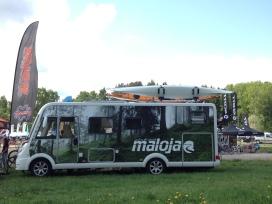 Maloja hade helt klart den snyggaste bussen på Lugnet