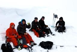 """Kitelunch i det vita. """"Första äta ute i snön moment 2014"""""""