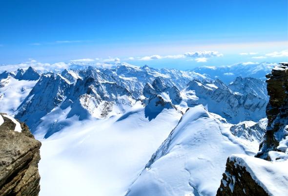 Toppen vy Gran Paradiso