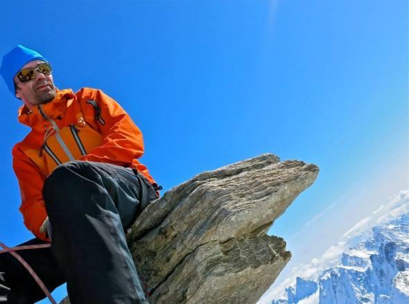 Utsikt från toppen av Gran Paradiso