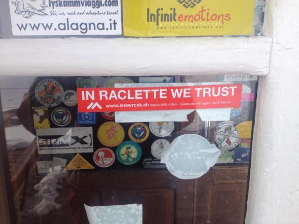 """""""In Raclette we trust"""" på berget"""