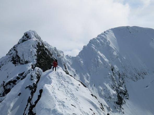 Klyvning = norskt ord för vandring på bergskam