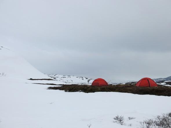 Tältläger i dalen