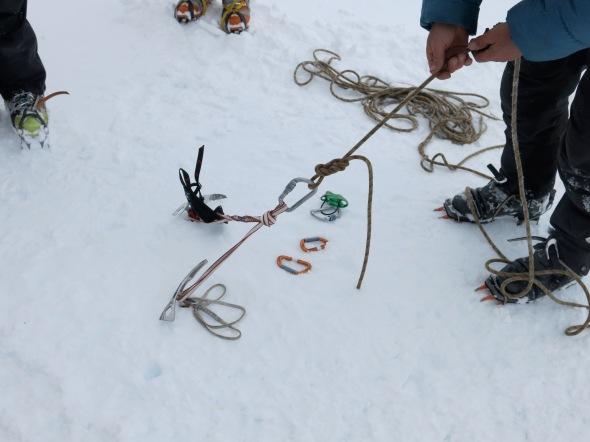 ankare för glaciärräddning